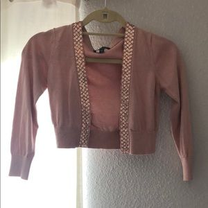 Bebe light pink cardigan